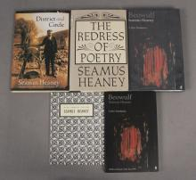 5 Assorted Seamus Heaney Poetry Books