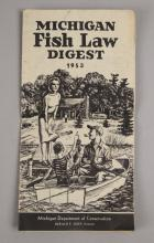 1953 Michigan Fish Law Digest Pamphlet