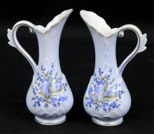 Pair of Lefton China Hand Painted Vases