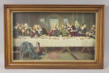 Last Supper Shadow Box Art - Jesus & The Apostles