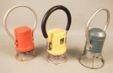 3 Vintage Railroad Lantern Lights