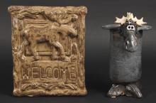 Decorative Ceramic Pottery Moose Art