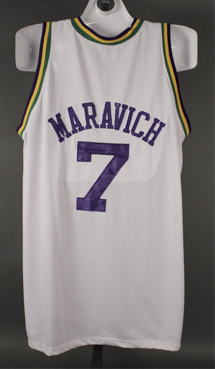 the latest 4de49 84d3b Pete Maravich #7 Utah Jazz NBA Jersey