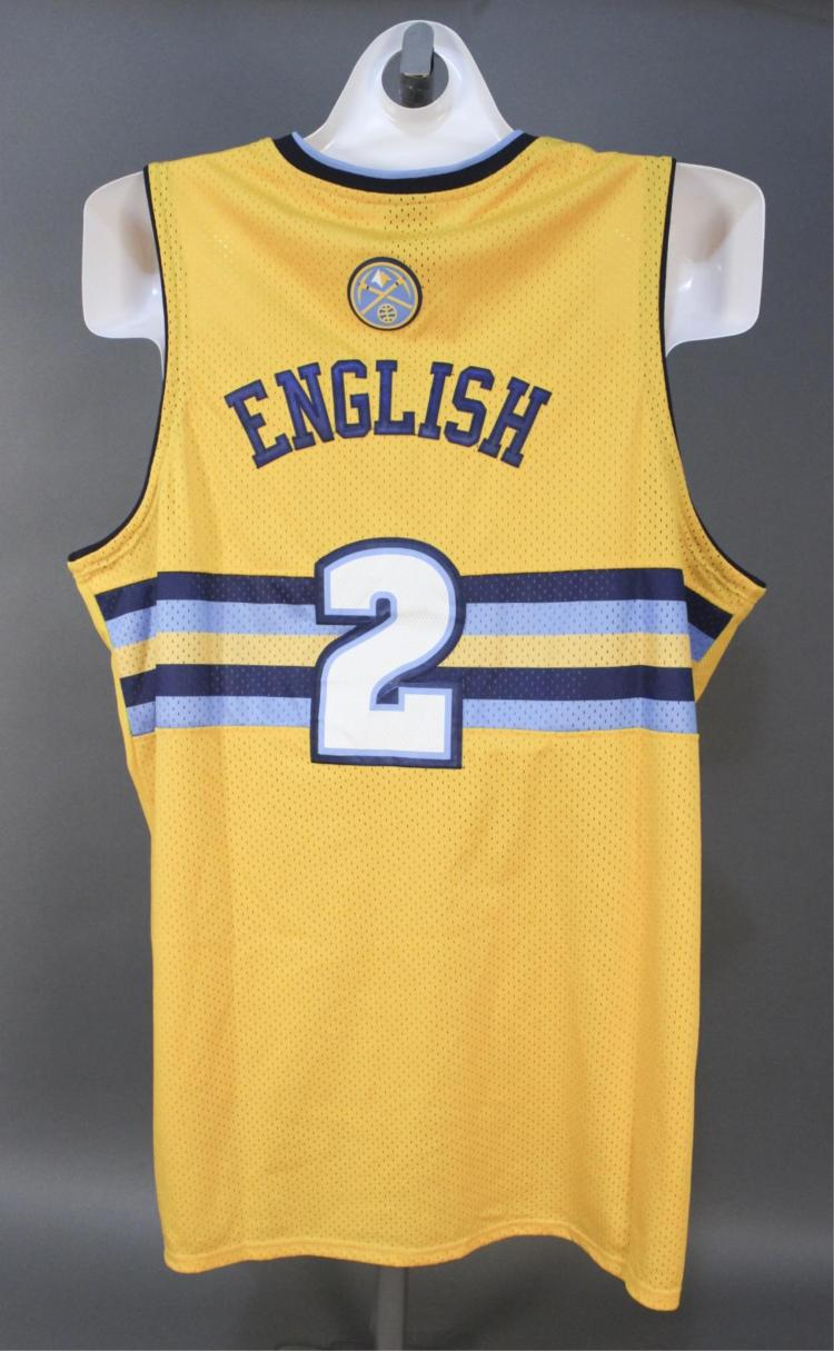 newest 3e968 961ed Alex English #2 Denver Nuggets NBA Jersey
