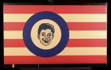 Lionel Red & Yellow Striped Sign with Boy's Face