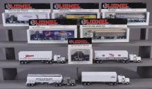 15 Assorted Lionel Collectible Tractor & Trailers