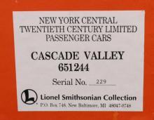 Lionel6-51244SmithsonianNYCCascadeValleyCar