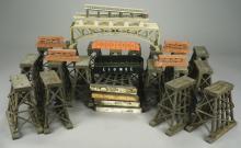 12+ Assorted Girder & Trestle Bridge Pieces