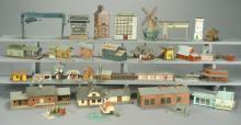 30 Assorted Assembled Plastic Model Buildings