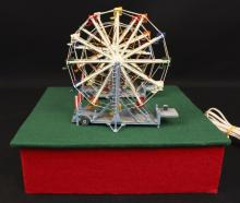 Two Ferris Wheel Operating Carnival Diorama