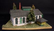 Oxon Hill Stone Diesel Engine House HO Diorama