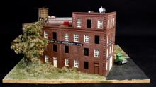 Oxon Hill Menasha Woodenware Factory HO Diorama