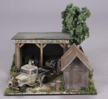 Layout Refinements Building with Shed Diorama