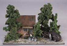 Layout Refinements House with Motorcycle Diorama