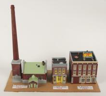 3 Oxon Hill HO Dioramas - Boiler House, Drug Store