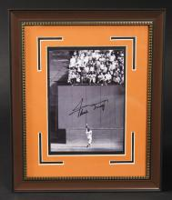 Framed Autographed Willie Mays #24 Photo