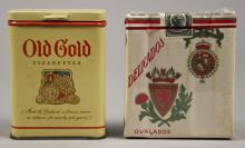 Old Gold & Deligados Cigarette Containers Tobacco