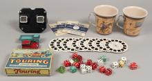 Vintage Collectable View Finder, Dice Game & Cups