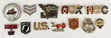 Assorted Collectible Military & M.O.C - Aux. Pins