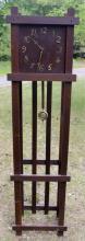 Arts & Crafts Mission Oak Grandfather Clock