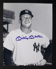 New York Yankees Mickey Mantle Autograph Photo