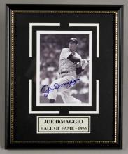 Signed Joe DiMaggio Hall of Fame Photo