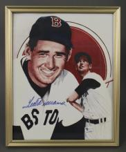 Ted Williams Boston Red Sox Autograph Photo COA