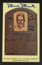 Robin Roberts Authenticated Hall of Fame Card