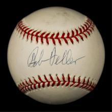 Bob Feller Autographed Baseball