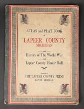 Antique Lapeer County Michigan War History Book