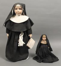 2 Collectible Vintage Nun Dolls