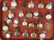 21 Assorted Pocket Watches, 1 3/4