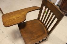 Vintage Wooden School Desk Chair