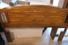 Engraved Wooden Headboard