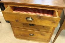 3 Drawer Wooden Dresser