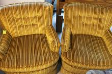 2 Vintage Golden Leisure Chairs