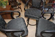 3 Metal Cushion Chairs