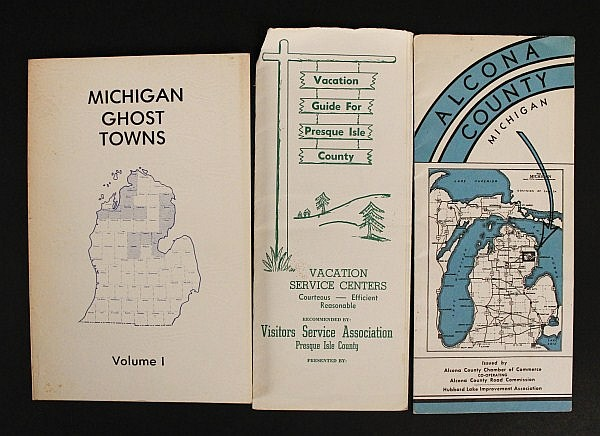 Vintage Maps Of Alcona County Michigan Ghost Town