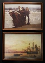 2 Decorative Framed Boat Prints - Paul Henry