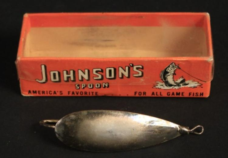 2 johnson 39 s spoon lures in boxes vintage for Most expensive fishing lure