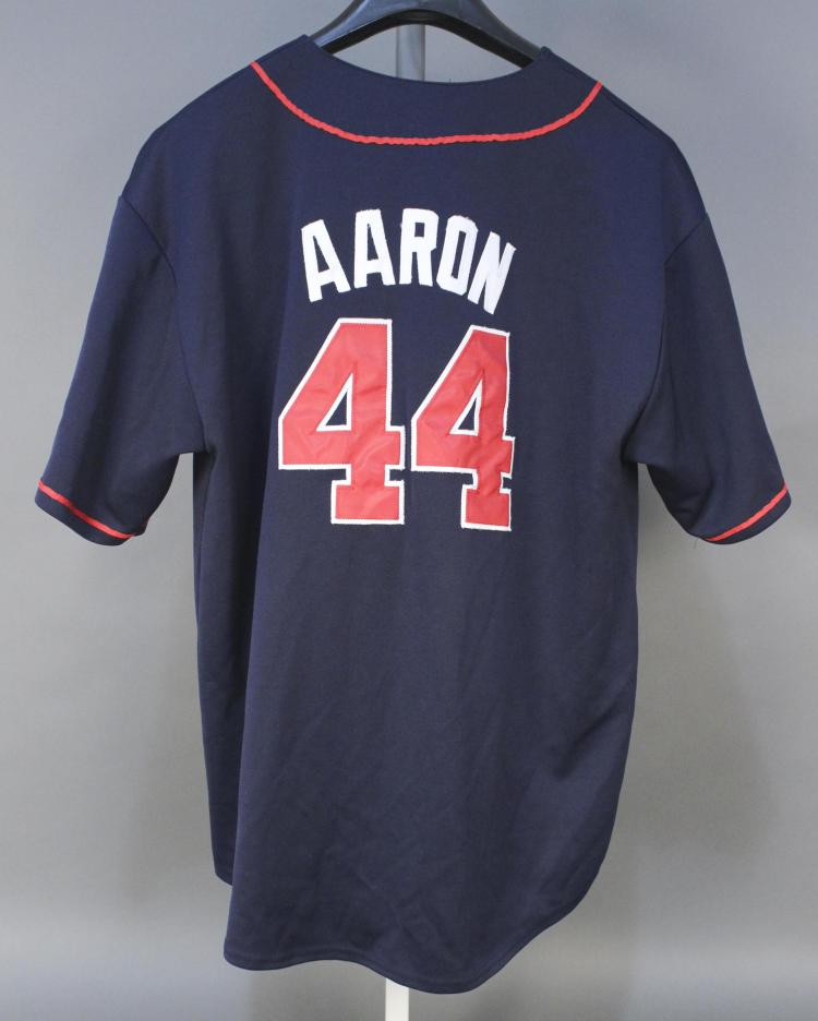 huge discount ac309 5d9f5 Hank Aaron #44 Atlanta Braves Baseball Jersey