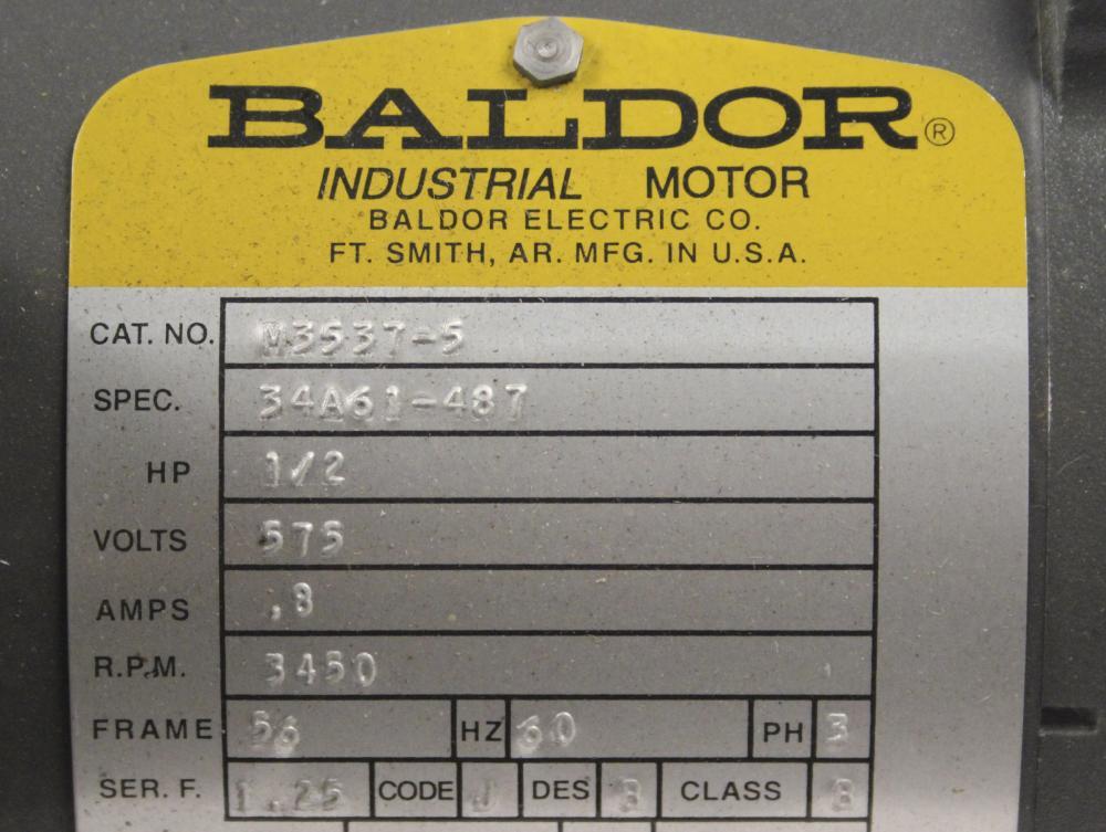 Baldor M3537-5 Motor 1/2 HP