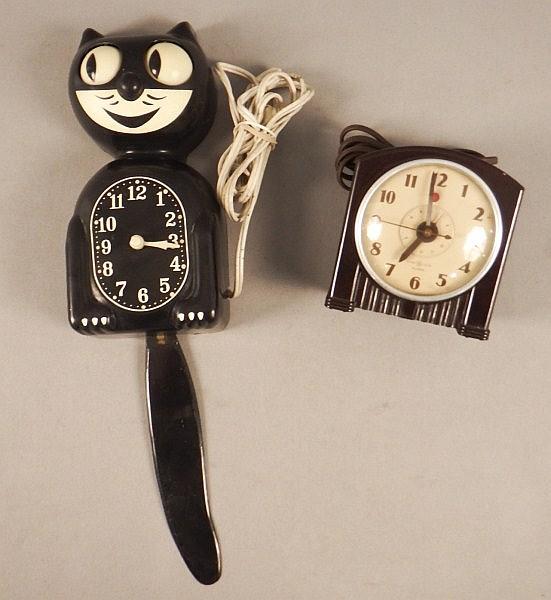 Vintage Kit Cat Clock Ge Bakelite Clocks