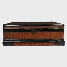Fine Ming Woven Lacquered Trunk