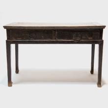 18th Century Chinese Two Drawer Table