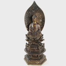 Seated Figure of Amida on a Lotus Throne with Halo