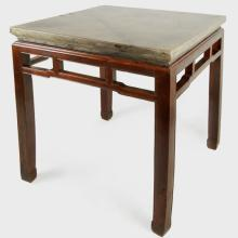 Chinese Stone Top Table Incense Table
