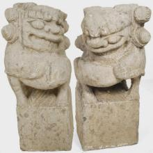 Pair of Chinese Stone Fu Dogs