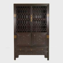 Chinese Honeycomb Lattice Display Cabinet