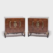 Pair of Two Door Chests with Stands